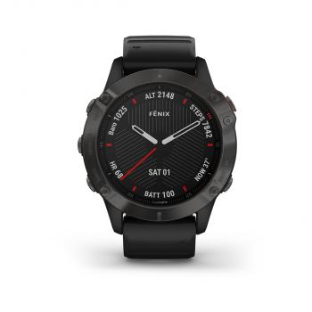 fēnix® 6 - Sapphire Editions Black with black ban