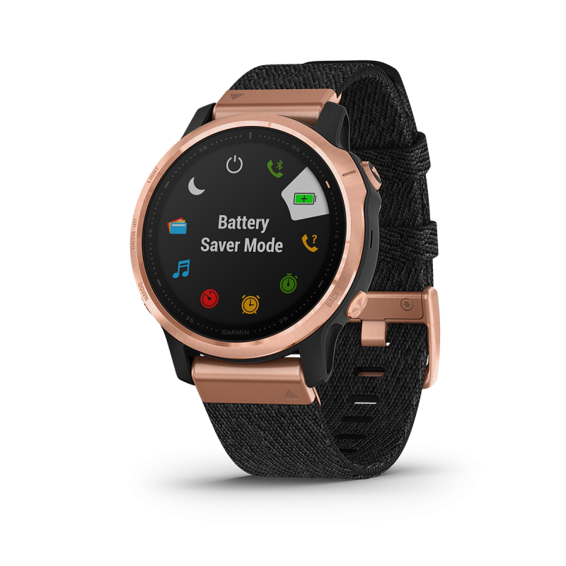 fēnix® 6S - Sapphire Editions , Rose gold-tone with heathered black nylon band