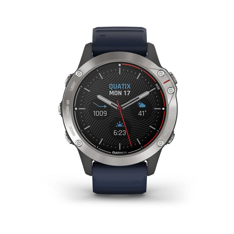 quatix® 6 | Grey with Captain Blue Band