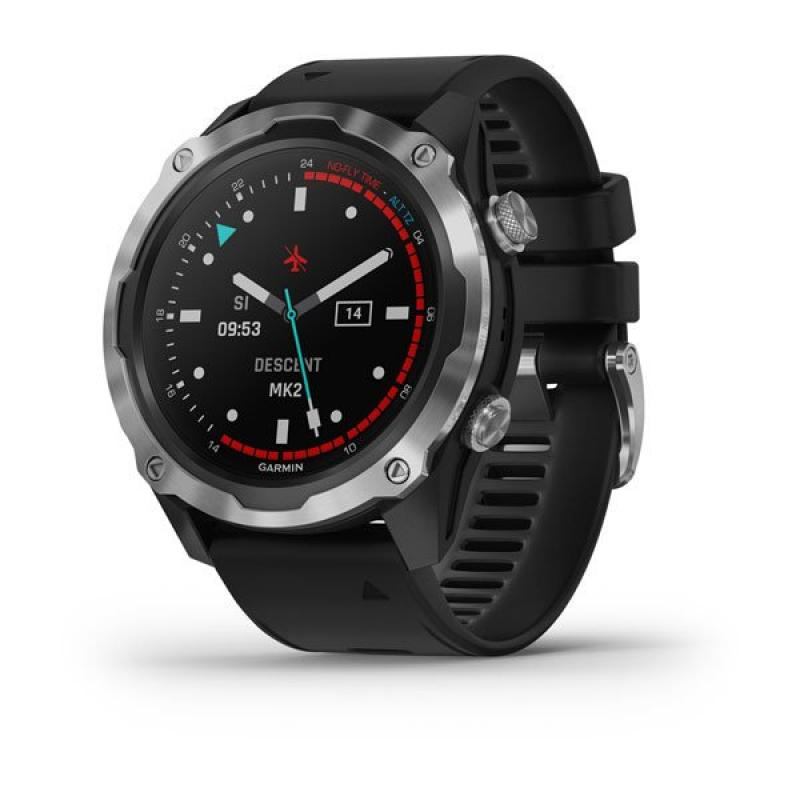 Descent™ Mk2 | Stainless Steel with Black Band